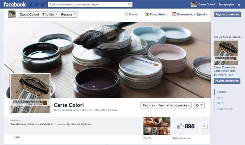 Facebookpagina Carte Colori